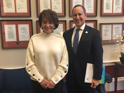 Jerry Penso and Ann Eshoo