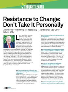 Resistance to Change: Don't Take It Personally